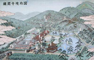 銀閣寺 案内図